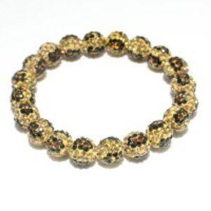 Leopard Fireball Stretchable Bracelet